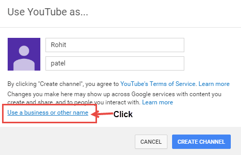 create channel youtube
