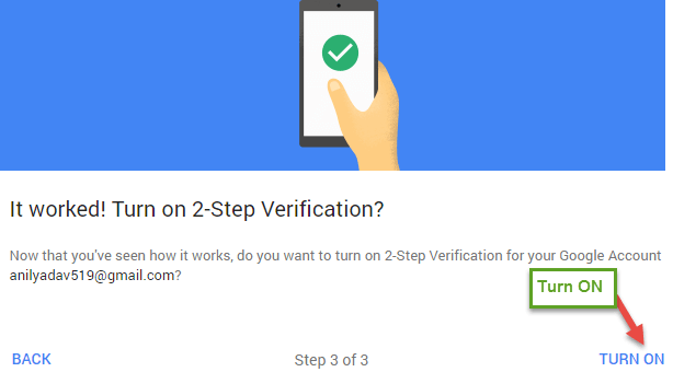 2-step verification Google