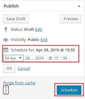 schedule post wordpress