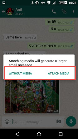 whatsapp chat email