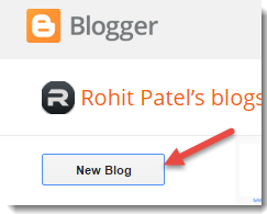 Blogger Add new Blog
