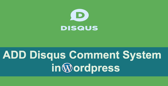 disqus add wordpress
