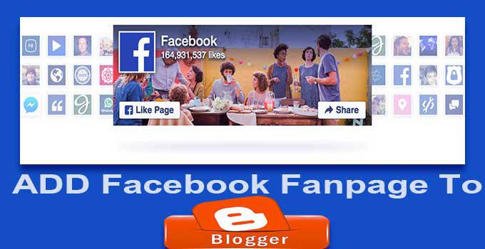 Facebook Fan Page Blogger Me kaise Add Kare