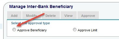 approve beneficiary sbi