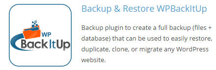 backitup plugin