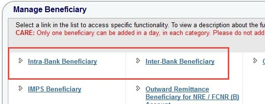 beneficiary onlinesbi
