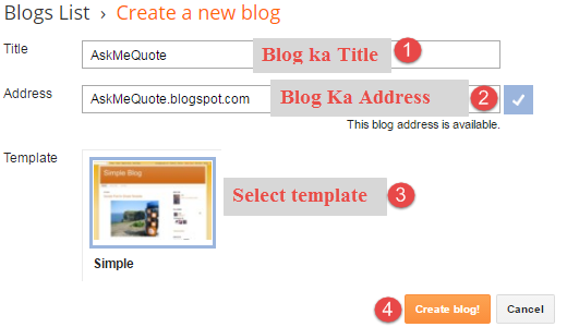 create blog blogger