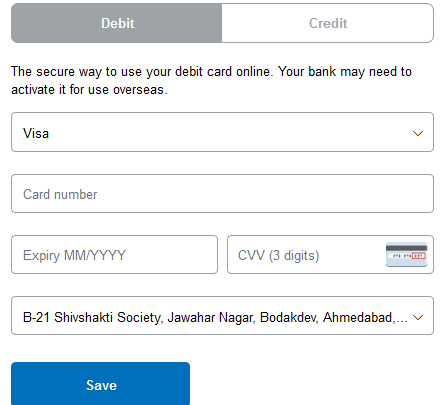 link card paypal