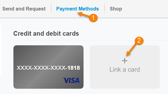 paypal link card
