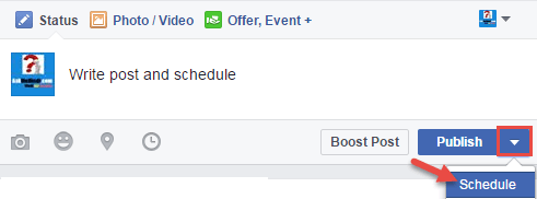 post schedule facebook