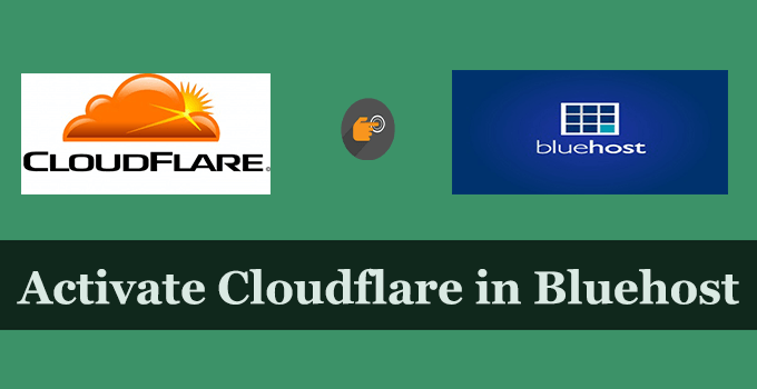 activate cloudflare bluehost