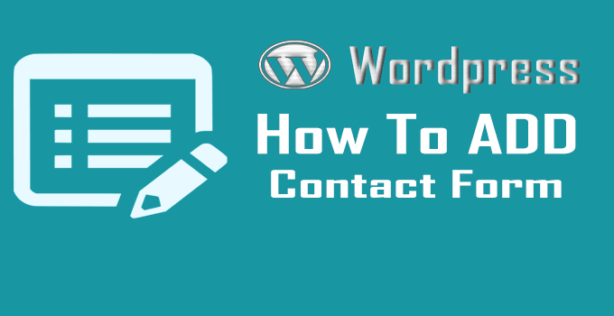WordPress Me Contact Form Kaise ADD kare