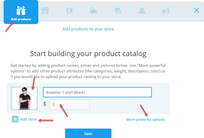 add products ecwid