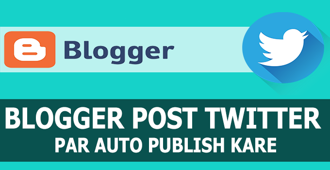 blogger auto publish twitter