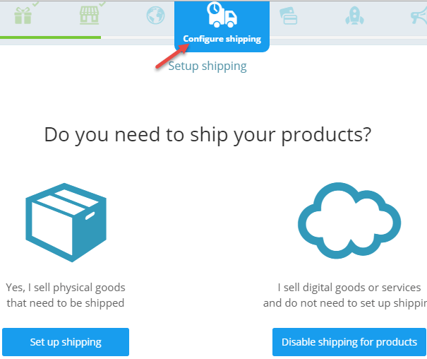 configure shipping ecwid