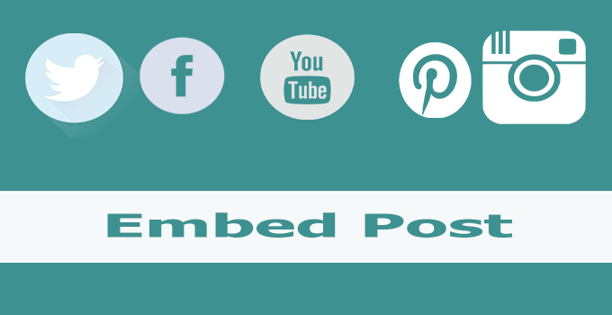 embed post social sites