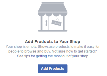 facebook add shop