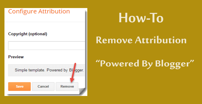 remove powered by blogger