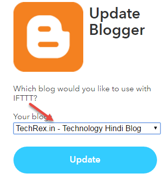 select blog blogger