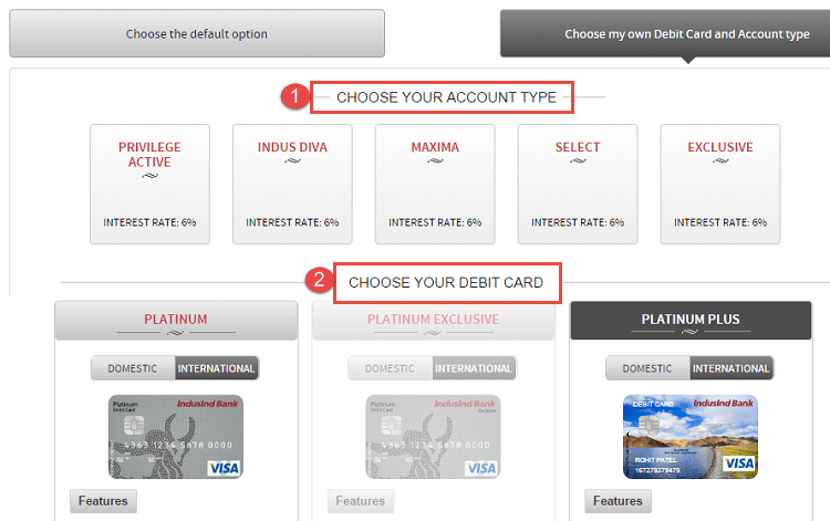 indusInd bank online account