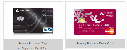axis bank card