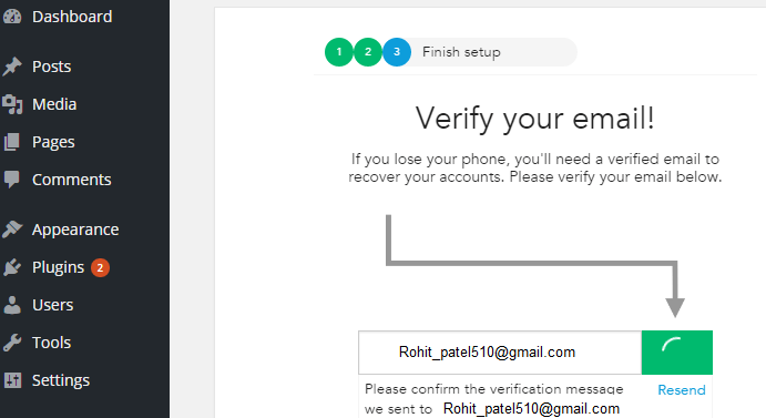 clef verify email