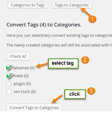 convert tags wordpress