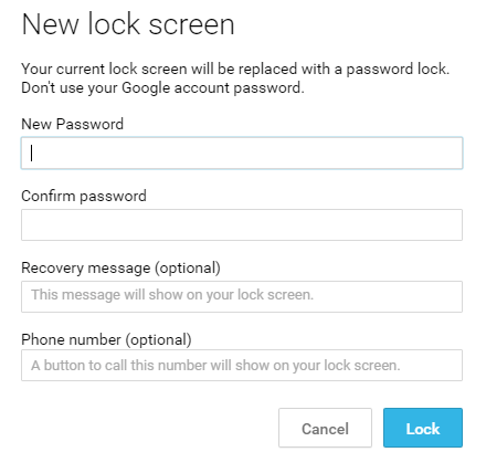phone lock android device manager