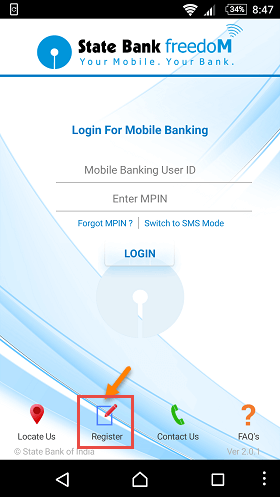 sbi freedom register
