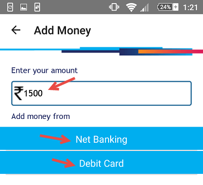 sbi buddy add money