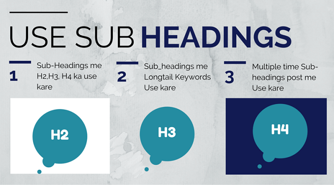 subheadings use
