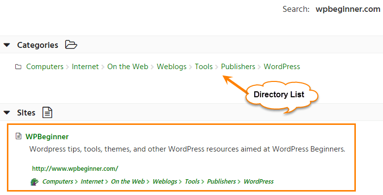 dmoz directory search