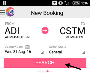 book train ticket IRCTC Mobile App