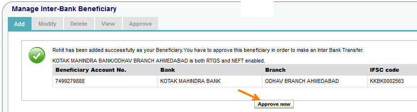 onlinesbi add beneficiary