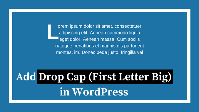 Wordpress Drop Cap