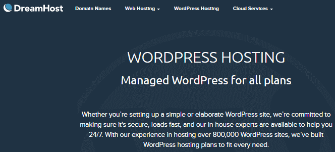 dreampress managed hosting