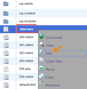 htaccess file manager