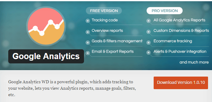 google analytics wd plugin