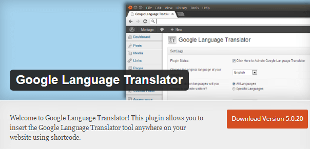 google translator plugin