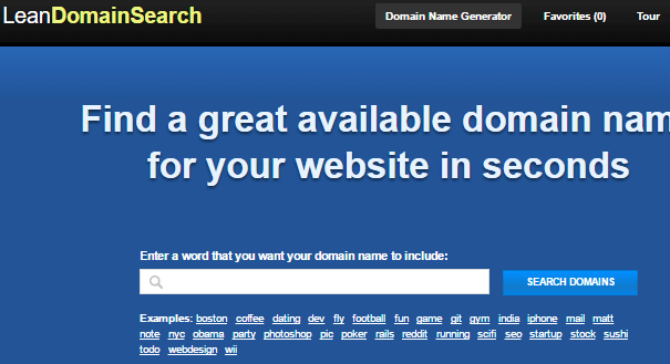 Lean domain name generator