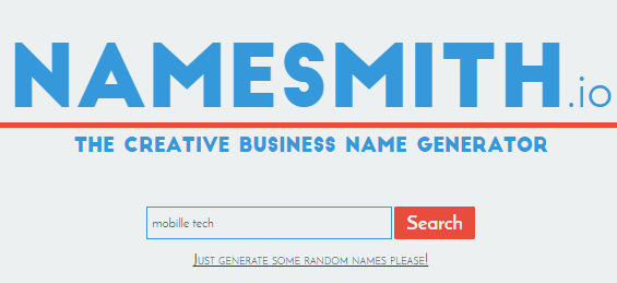 Namesmith domain name generator