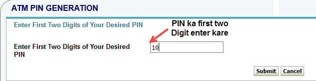 onlinesbi card pin change