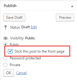 wordpress sticky post