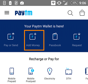 paytm add money