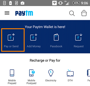 paytm send money