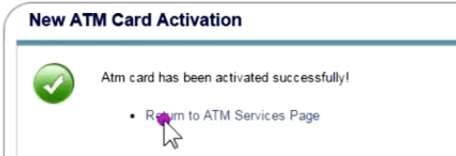 onlinesbi atm card activate