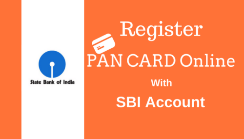 SBI Account Se PAN CARD Online Register Kare