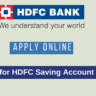 Open HDFC Bank Saving Account online