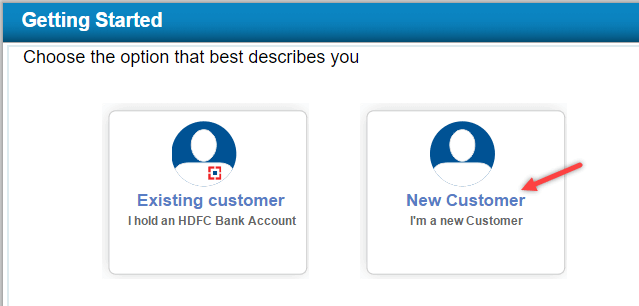hdfc apply account online