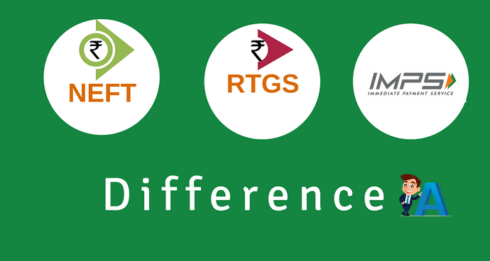 NEFT RTGS IMPS difference